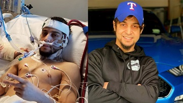 Diaz before and after hospitalization