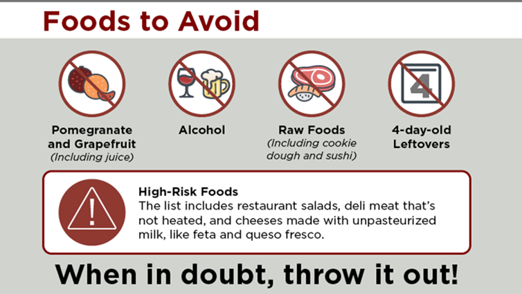 food safety tips for transplant recipients
