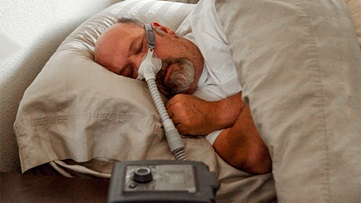 stock man with cpap universal
