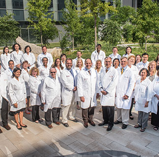 A group photo of physicians from the Inflammatory Bowel Disease Clinical Team